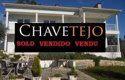 Luxurious 3 bed detached villa with south facing veranda, swimming pool, garage, 1ha land plot and stunning views of countryside