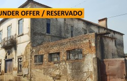 Large stone property for sale in a good village location near Tomar, Central Portugal