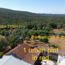 Idyllic countryside location, land, ruins and house 3 independent plots near Alvaiazere at Alvaiazere for 150000