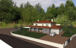 4 bed detached house still to be constructed for sale near Ansião, central Portugal