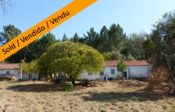 Two bedroom farmhouse with 1.980 square meters of land for sale near the town of Cernache do Bonjardim