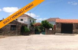 Characterful, renovated two bedroom country house with two bedroom annex and a large garage set on a lovely plot in a peaceful village near Vila de Rei