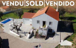 SOLD // 4 Bed Country home, pool, garage, workshop, annex, private drive, fruit trees, stunning views close to Ansião