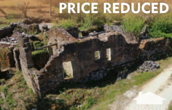 Large ruin possible 223sqm habitable, with 1400sqm reasonable flat land, great views of countryside, near Alvaiázere