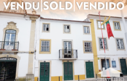 A substantial three story building right on the main square for sale in Tomar, Central Portugal