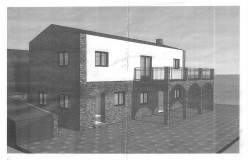 Plot of land with planning permission for a two bedroom house and a 1 bedroom guest house for sale in Maça de Dona Maria
