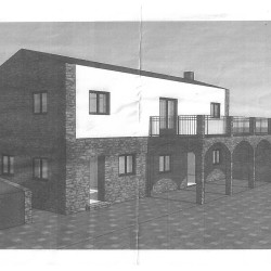 Plot of land with planning permission for a two bedroom house and a 1 bedroom guest house for sale in Maça de Dona Maria at Alvaiazere for 29950