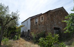 Two old stone houses built side-by-side for renovation ,  near the town of Cernache do Bonjardim, Central Portugal